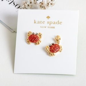 kate spade shore thing pave crab studs earrings